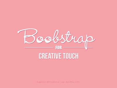 Boobstrap - Creative Touch Logo humor sexy logo fake boobs