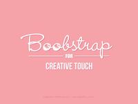 Boobstrap - Creative Touch Logo