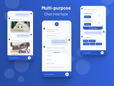 Chat Interface messaging robot mobile uidesign ui kitten interface discussion message messenger conversation chat app chat chatbot