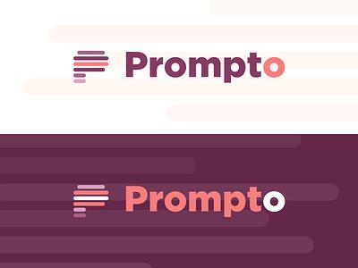 Prompto — Logo flat identity design identity branding productdesign product logotype logo design logodesign logo teleprompter prompter prompto