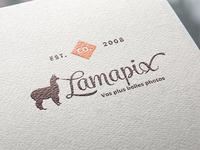Vintage Lamapix logo in paper