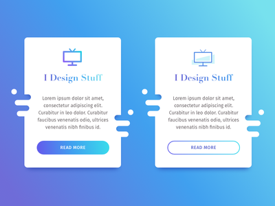 Funny boxes with Aqua/Blue to Purple gradient colorful button shadow blue aqua purple gradient