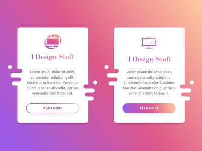 Funny boxes with Cream, Plum to Purple gradient shape shadow gradient colorful ghost button button pink plum purple gradient icon icon cream