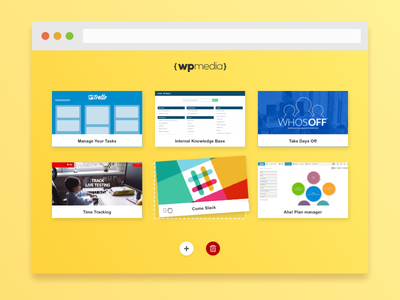 Welcome Dashboard in Chrome Tab [Sketch File] tiles drop drag interface yellow kiss dashboard