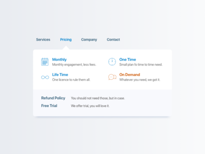 Mega Menu Re-worked [Sketch File] corporate icons simple flat menu mega dropdown