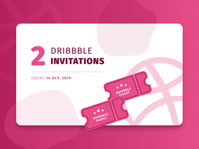 Dribbble Invitations fira sans blob pink ui dribbble invitation dribbble invite ticket invitation dribbble