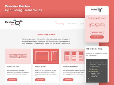 Flexbox Ninja PWA Design icon flat design button responsive mobile app interface resources collection webdesign