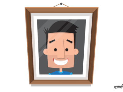 I dribbbled... character design vector illustration vector illustration self portrait