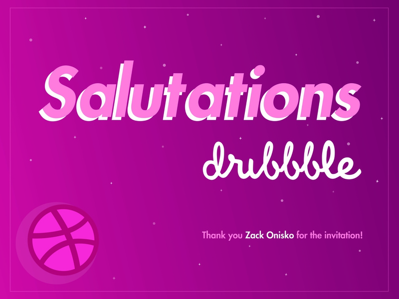 hello dribbble! fun new user invited invitation digital art visual design graphic design graphic artist graphic art computer graphics player space dribbble dribbble player new player salutations hello world hellodribbble hello