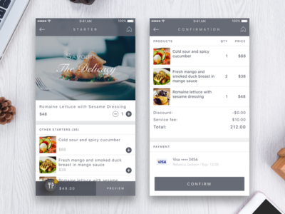 Order & Payment payment restaurant food order