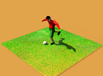 football animation illustration design