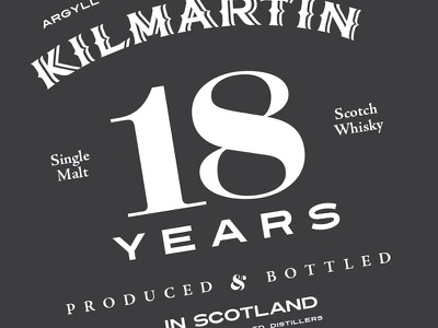 Whisky Type whisky kilmartin labels classic liquor alcohol typography type ed package design ohjamesy james hsu