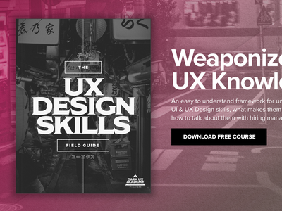 The UX Design Skills Field Guide product design ui ux