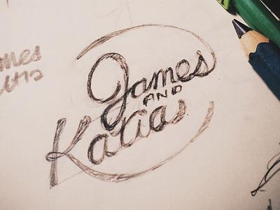 James and Katia lettering logotype hand lettering typography type wedding logo logo james hsu ohjamesy