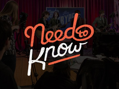 Need to Know need to know typography hand lettering james hsu ohjamesy lettering logotype logo