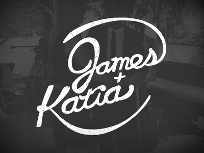 James and Katia ohjamesy james hsu hand lettering lettering typography grunge texture type logo logotype