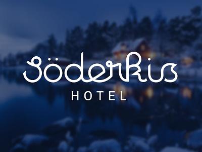 Söderkis Hotel logo script typography lettering hand lettering soderkis söderkis geometric logotype wordmark