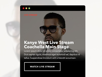 Intentionally Left Blank 2 kanye west ui ux interface mobile web ohjamesy james hsu live nation labs
