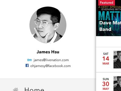 Intentionally Left Blank 3 hamburger menu interface desig mobile nav ui ux live nation james hsu ohjamesy app