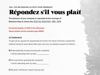 RSVP, yo wedding grumpy interactive web design ohjamesy james hsu ux ui interface design
