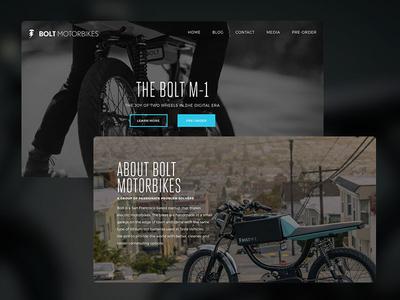 Bolt Motorbikes ohjamesy james hsu sans serif design web ui ux bolt motorbikes