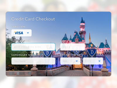 Daily UI 002 – Credit Card Checkout dailyui flat ui ui disneyland disney ux checkout credit card e commerce ui design ohjamesy james hsu