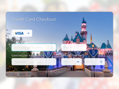 Daily UI 002 – Credit Card Checkout dailyui flat ui ui disneyland disney ux checkout credit card e commerce ui design ohjamesy james hsu