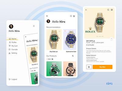 Watch Shop App ux figma rolex branding app ecommerce niranjan uidesign dribbble