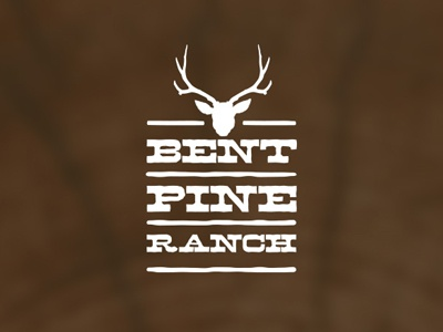 Bent Pine Ranch Logo logo rustic ranch wood