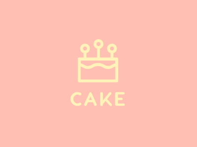 Cake icon line cake