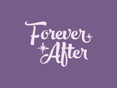Forever After Logo event party script logo