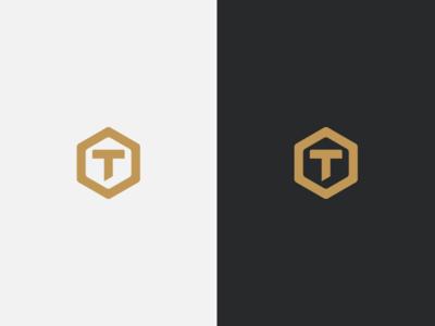 Personal Brand Mark geometric gold personal brand mark logo
