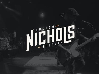 Nichols Custom Guitars Brand Identity band guitar music logo brand