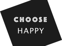Choose Happy T-Shirt for Sale