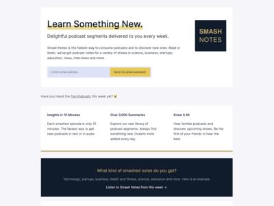 Smash Notes Landing Page June 16 2019