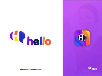 hello chat logo line art logo logo app h logo h letter h monogram brand guide identity transparent background transparent shafayet rana design typography logoinspiration logodesign branding