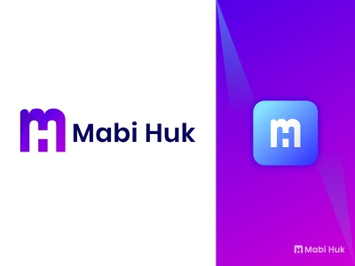 mabi huk app logo illustration icon symbol shafayet rana design typography line art logo logoinspiration branding