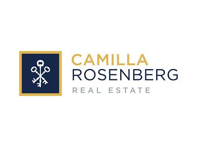 Camilla Rosenberg Real Estate Logo logo design realestate lock keys real estate vector type typography design brand identity logo