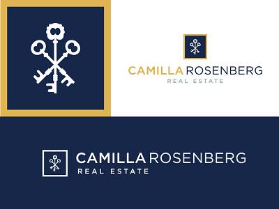 Camilla Rosenberg Logo Layouts real estate logo keys logo design logo real estate vector type typography design