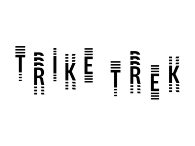 Trike Trek Logo Animation branding design typography animation mobility logo vector type