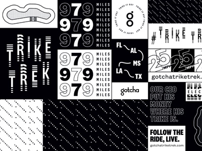 Trike Trek Trailer Wrap branding typography design illustration mobility type vector grid layout layout design