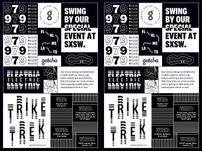 Trike Trek Poster branding layout design grid layout type mobility typography design
