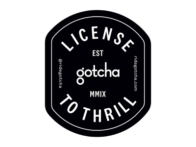 License To Thrill Badge patch sticker badge design vector layout design type mobility typography design branding badge