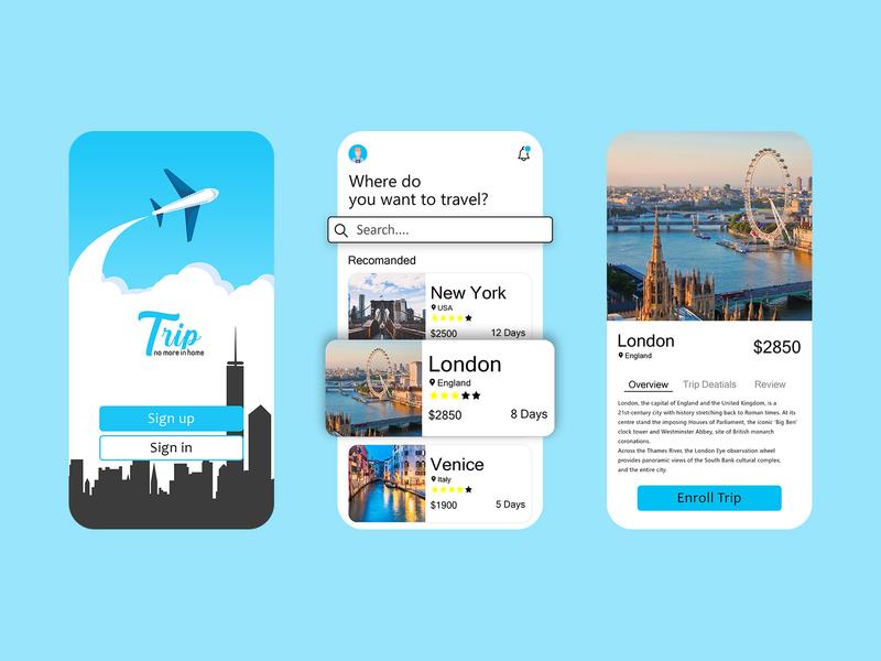 App for Traveler trip planner trip traveling travel agency travel app mobile app mobile ui apple ui kit ux design uidesign ui  ux application app design ui ux dailyui app design