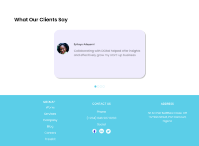 Digital Agency Footer