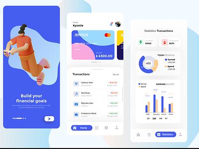 DOMPET-Q (Financial Management App) uiuxdesign uiux apple finance app mobile design mobile app mobile ui financial app figma dribbble design management illustration app ux ui