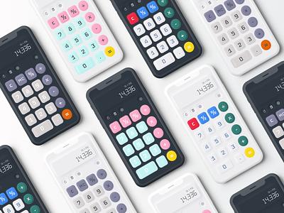 MechaCalc - Calculator App calculator minimal neumorphism neumorphic dark calculate calculator design calculator ui calculator app apple uidesign finance app 2021 trend mobile app ux app ui figma dribbble design