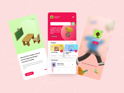 Asah Skills - Learning Skills Mobile App learning ios clean 3d 3d ui learning platform skills app skills learning app learn illustration 2021 trend uidesign mobile app app ux ui figma dribbble design