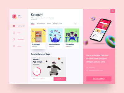Asah Skills - Learning Skills Web 3d website minimal learning platform learning app learning website webdesign dashboard design dashboard app dashboard ui web clean 2021 trend uidesign app ux ui figma dribbble design