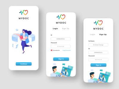 MYDOC uiuxdesign uiux ui ui design uidesign mobile ui mobile design mobile application mobile app design figmadesign design app